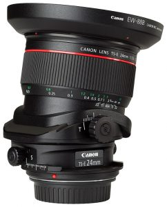 Canon shift lens